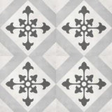 "Shnier Tile Ice Northstar Deco - per SqFt / 8""x8"" Geoshapes - Tile"