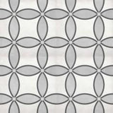 "Shnier Tile Ice Zenith Deco - per SqFt / 8""x8"" Geoshapes - Tile"