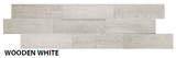 "Wooden White Muretto Tile, Backsplash Tile, Wall Tile and Accent Tile 1-1/2"" x 8"""