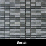 "Regina Hardwood Flooring Center Backsplash 1/2"" x 1 1/4"" - Basalt - per SqFt Pietre Antiche - Tile"