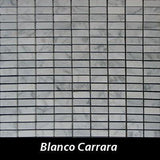 Blanco Carrara Pietre Antiche Wall Tile, Backsplash TIle, Mosaic Tile and Accent Tile 1/2x1-1/4