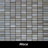 "Regina Hardwood Flooring Center Backsplash 1/2"" x 1 1/4"" - Moca - per SqFt Pietre Antiche - Tile"