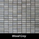 "Regina Hardwood Flooring Center Backsplash 1/2"" x 1 1/4"" - Wood Grey - per SqFt Pietre Antiche - Tile"