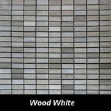 Wood White Pietre Antiche Wall Tile, Backsplash TIle, Mosaic Tile and Accent Tile 1/2x 1-1/4