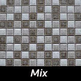 Mix Crackle Square Backsplash and Wall Tile 1x1