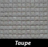 Taupe Crackle Square Backsplash and Wall Tile 1x1