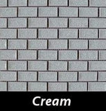 Cream Crackle Square Backsplash and Wall Tile 1x2