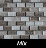 Mix Crackle Square Backsplash and Wall Tile 1x2