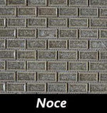 Noce Crackle Square Backsplash and Wall Tile 1x2