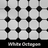 "Regina Hardwood Flooring Center Backsplash 2.24"" x 2.24"" Octagon - White - per SqFt Porcellanato - Tile"