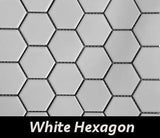 "Regina Hardwood Flooring Center Backsplash 2"" x 2"" Hexagon - White - per SqFt Porcellanato - Tile"