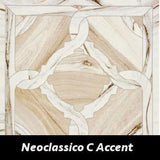 "Regina Hardwood Flooring Center Backsplash 24"" x 24"" - Neoclassico C Decorative Accent Marmi Imperiali - Tile"