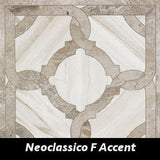 "Regina Hardwood Flooring Center Backsplash 24"" x 24"" - Neoclassico F Decorative Accent Marmi Imperiali - Tile"