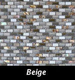 Beige Pearl Tile, Backsplash Tile, Wall Tile, Mosaic and Accent Tile 3/8x3/4