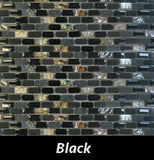 Black Pearl Tile, Backsplash Tile, Wall Tile, Mosaic and Accent Tile 3/8x3/4