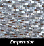 Emperador Pearl Tile, Backsplash Tile, Wall Tile, Mosaic and Accent Tile 3/8x3/4