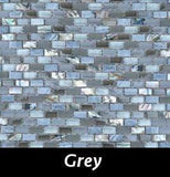 Grey Pearl Tile, Backsplash Tile, Wall Tile, Mosaic and Accent Tile 3/8x3/4