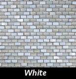 White Pearl Tile, Backsplash Tile, Wall Tile, Mosaic and Accent Tile 3/8x3/4
