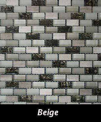 Beige Reef Mosaic Tile, Backsplash Tile, Wall Tile and Accent Tile 5/8x 1-1/4