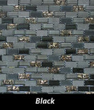 Black Reef Mosaic Tile, Backsplash Tile, Wall Tile and Accent Tile 5/8x 1-1/4