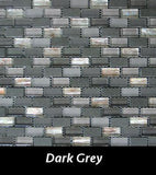 Dark Grey Reef Mosaic Tile, Backsplash Tile, Wall Tile and Accent Tile 5/8x 1-1/4
