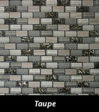 Taupe Reef Mosaic Tile, Backsplash Tile, Wall Tile and Accent Tile 5/8x 1-1/4