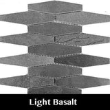 Light Basalt Rhombo Mosaic Tile, Wall Tile, Floor Tile, Backsplash Tile and Accent Tile 5x1-3/8