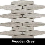 Wooden Grey Rhombo Mosaic Tile, Wall Tile, Floor Tile, Backsplash Tile and Accent Tile 5x1-3/8