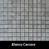 Blanco Carrara Pietre Antiche Wall Tile, Backsplash TIle, Mosaic Tile and Accent Tile 7/8x7/8