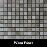 Wood White Pietre Antiche Wall Tile, Backsplash TIle, Mosaic Tile and Accent Tile 7/8x7/8