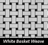 Regina Hardwood Flooring Center Backsplash Basket Weave - White - per SqFt Porcellanato - Tile