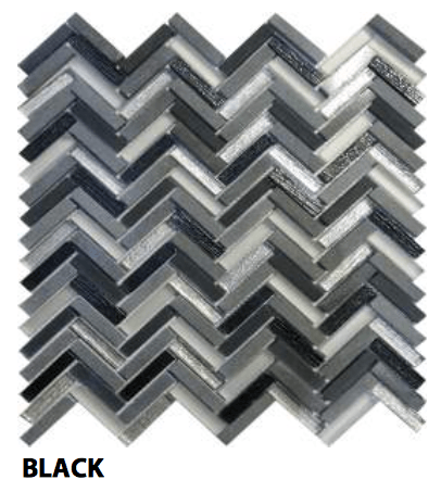 Black Freccia Wall Tile, Backsplash and Tile Herringbone Tile