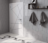 White Chevron Backsplash/Wall Tile