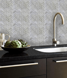 Taupe Freccia Wall Tile, Backsplash and Tile Herringbone Tile