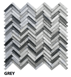 Grey Freccia Wall Tile, Backsplash and Tile Herringbone Tile