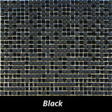 "Regina Hardwood Flooring Center Tile 3/8"" x 3/8"" Mixed - Black - per SqFt Studio Glass - Tile"
