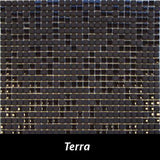 "Regina Hardwood Flooring Center Tile 3/8"" x 3/8"" Mixed - Terra - per SqFt Studio Glass - Tile"