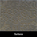 "Regina Hardwood Flooring Center Tile 3/8"" x 3/8"" Mixed - Tortora - per SqFt Studio Glass - Tile"