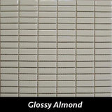 "Regina Hardwood Flooring Center Tile 5/8"" x 1 7/8"" Glossy - Almond - per SqFt Studio Glass - Tile"