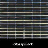 "Regina Hardwood Flooring Center Tile 5/8"" x 1 7/8"" Glossy - Black - per SqFt Studio Glass - Tile"