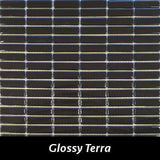 "Regina Hardwood Flooring Center Tile 5/8"" x 1 7/8"" Glossy - Terra - per SqFt Studio Glass - Tile"