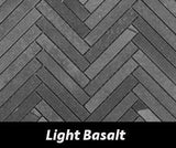 "Regina Hardwood Flooring Center Tile 5/8"" x 4"" Mosaic - Light Basalt - per SqFt Herringbone - Tile"