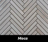 "Regina Hardwood Flooring Center Tile 5/8"" x 4"" Mosaic - Moca - per SqFt Herringbone - Tile"