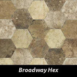 "Regina Hardwood Flooring Center Tile 9.5"" x 11"" - Broadway Hex - per SqFt New York - Tile"