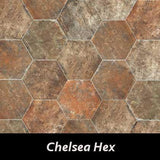 "Regina Hardwood Flooring Center Tile 9.5"" x 11"" - Chelsea Hex - per SqFt New York - Tile"