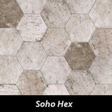 "Regina Hardwood Flooring Center Tile 9.5"" x 11"" - Soho Hex - per SqFt New York - Tile"