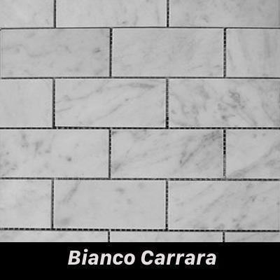 Regina Hardwood Flooring Center Tile Bianco Carrara - per SqFt Bricks  - Tile