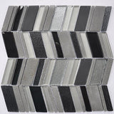 Regina Hardwood Flooring Center Tile Black Glass Boutique Marble Chevron - Tile