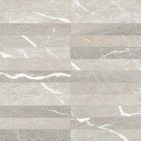 "Regina Hardwood Flooring Center Tile Emperador 1"" x 6"" Mosaic - per SqFt Absolute Marble - Tile"