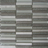 Regina Hardwood Flooring Center Tile Grey - Stacked Glacier Glass & Stone - Tile